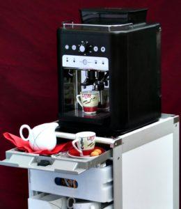 Flugzeugtrolley Kaffee Bar