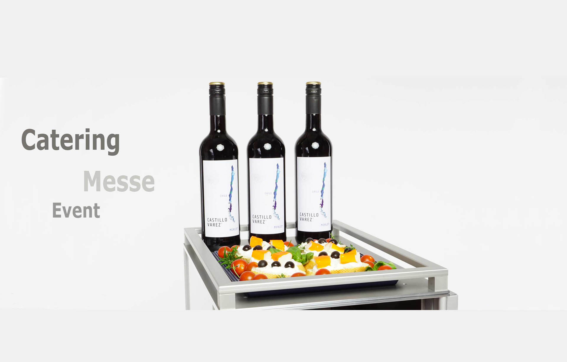 Systemtrolley Banner Catering Messe Event