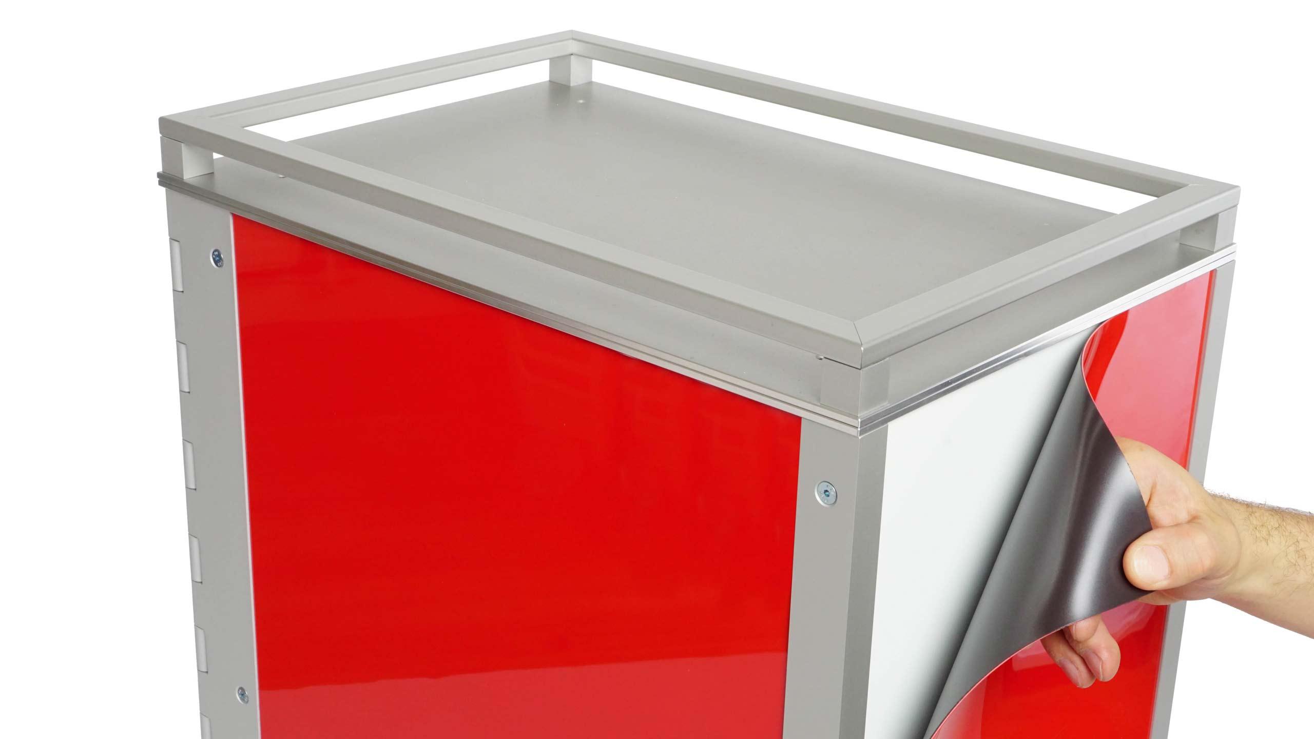 Wingdesign System-trolley mit Magnetfolie Dekorwechsel