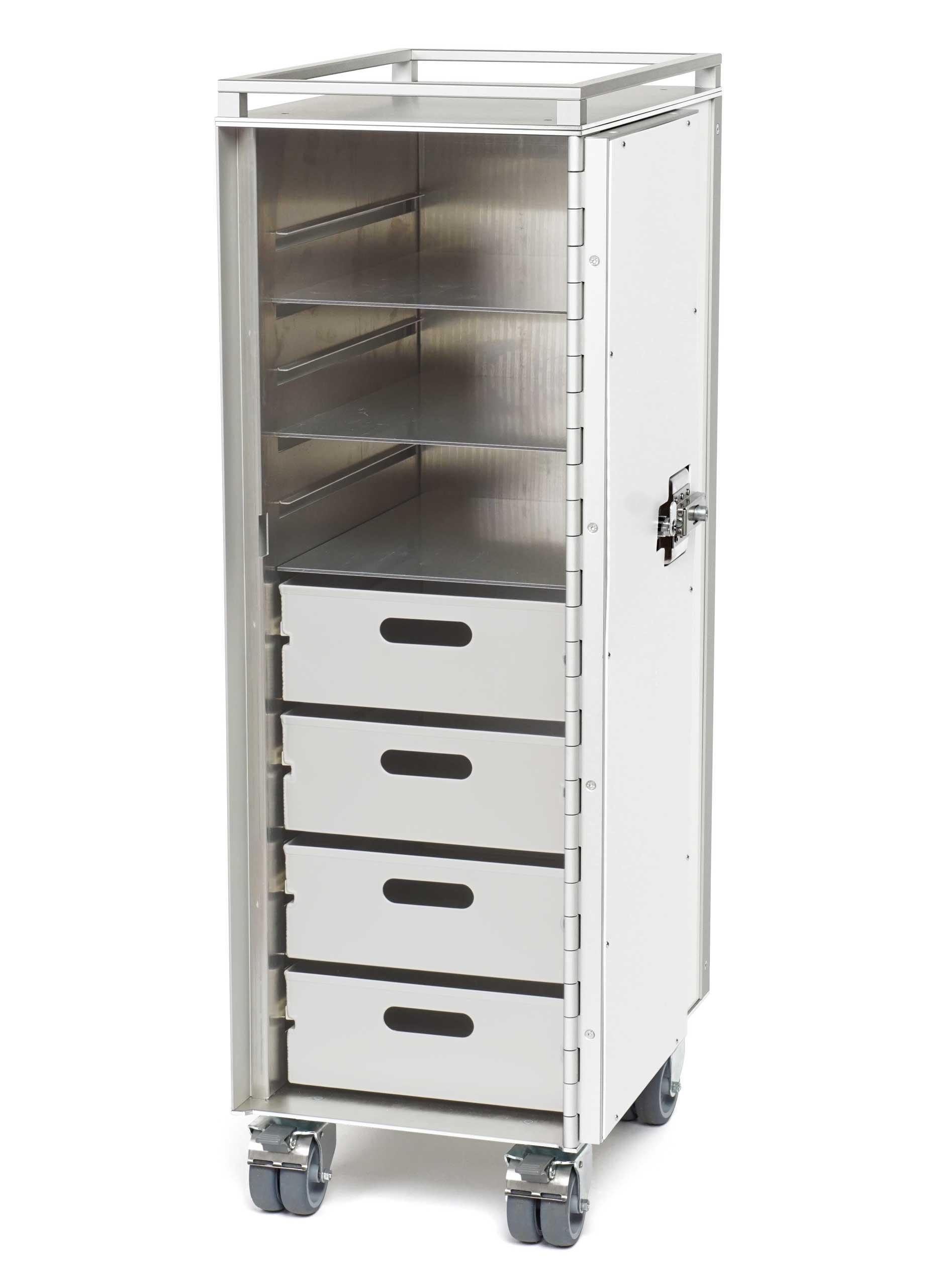 Wingdesign Systemtrolley Aluminium Zubehoer Schubladen-Boeden