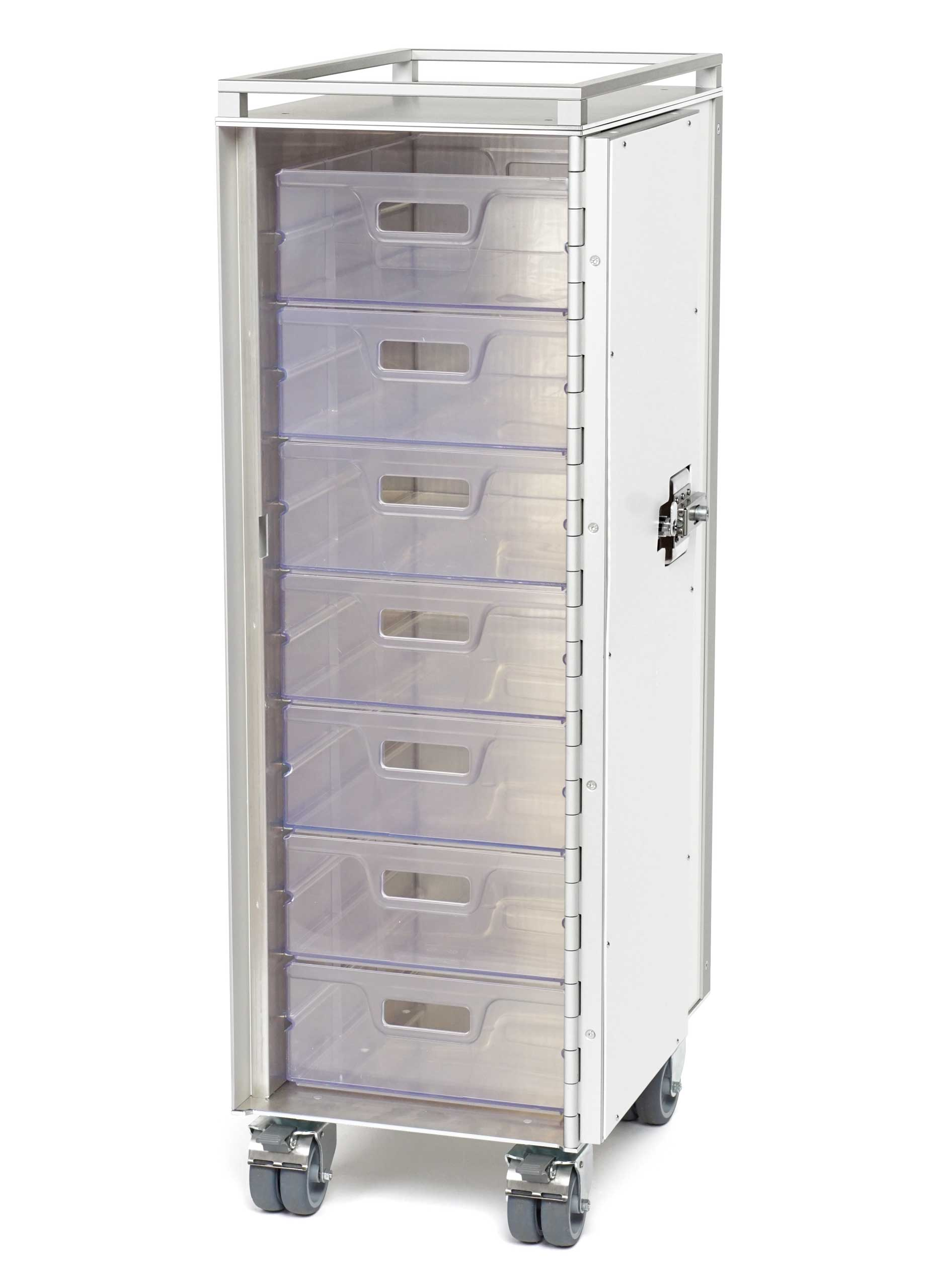 Wingdesign Systemtrolley standard transparente Schubladen-Drawer