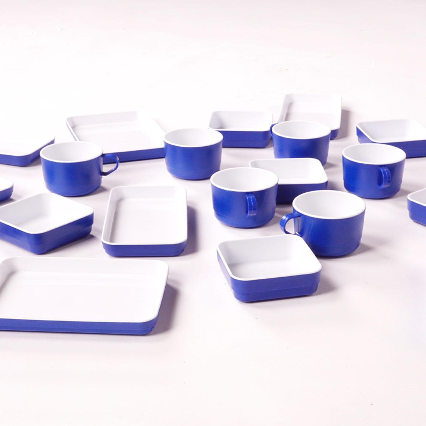 Flugzeug Kunststoffgeschirr Set 22 Teilig