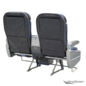 Flugzeug Doppelsitzbank American Airlines Nahaufnahme Rueckseite