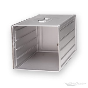 flugzeugtrolley Alu Box silber Standard-Unit leer