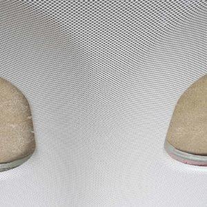 Doppel Flugzeugfenster grau Nahaufnahme