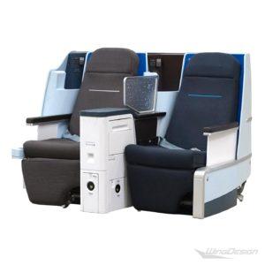 Flugzeugsitz Doppelbank KLM First Class