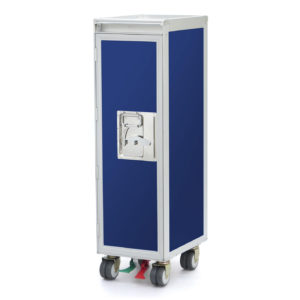 Waste-Flugzeugtrolley neu blau Airlinetrolley