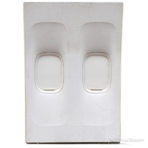 747 flugzeugfenster element komplett front