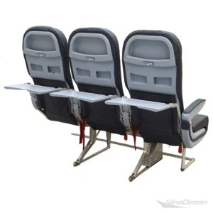 Flugzeugsitz Dreierbank airberlin Economy Class Rueckseite