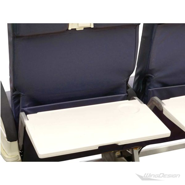 Flugzeugsitz Doppelbank blau Leder gebraucht EconomyClass Aircraftseat tISCHE