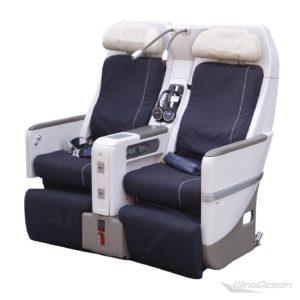 Flugzeugsitz Doppelbank Air France