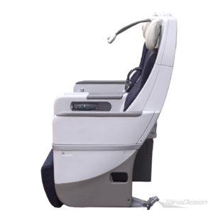 Flugzeugsitz Doppelbank Seitenansicht