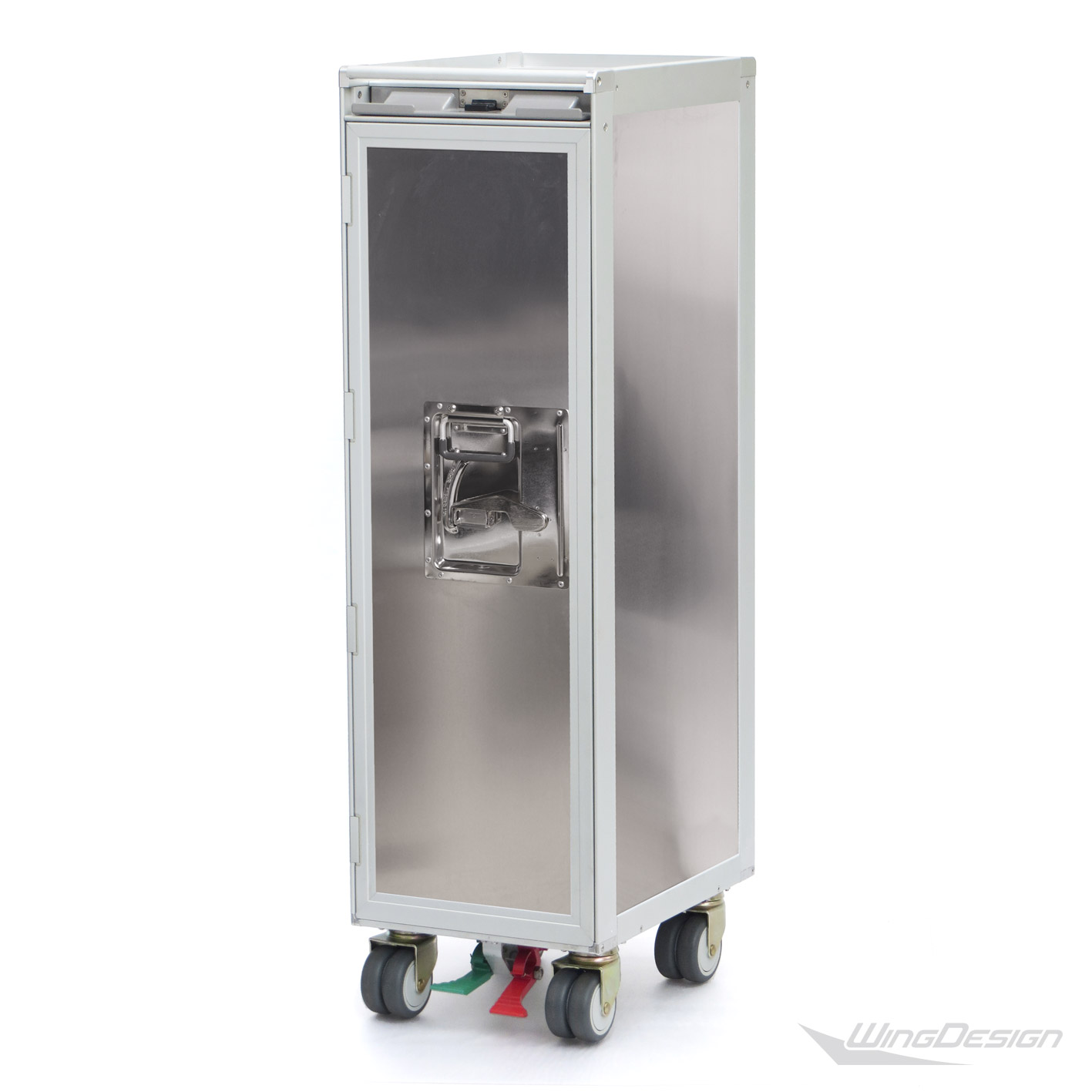 Flugzeugtrolley neu silber metall Airlinetrolley