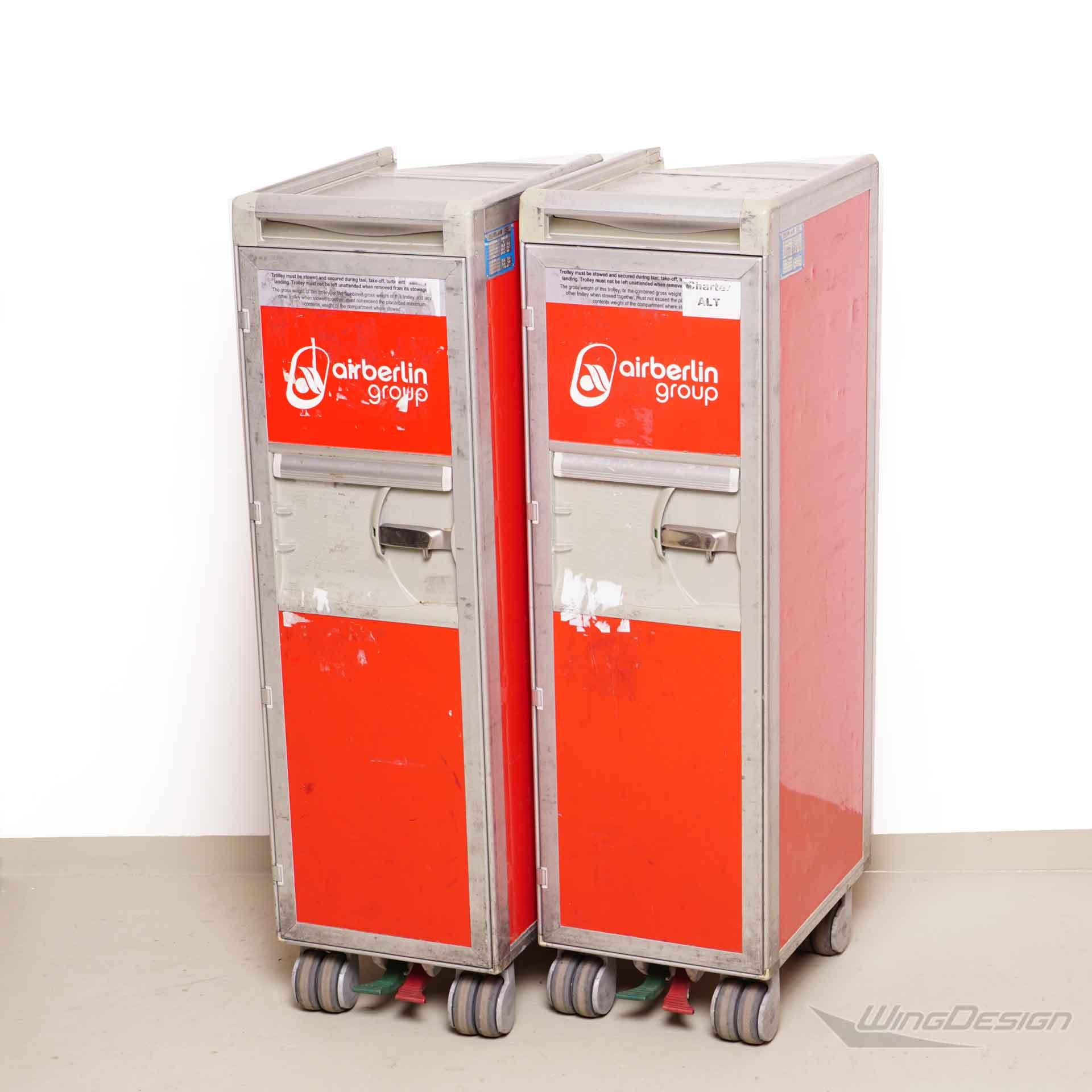 airberlin flugzeugtrolley servierwagen mit tabletts 40. Black Bedroom Furniture Sets. Home Design Ideas