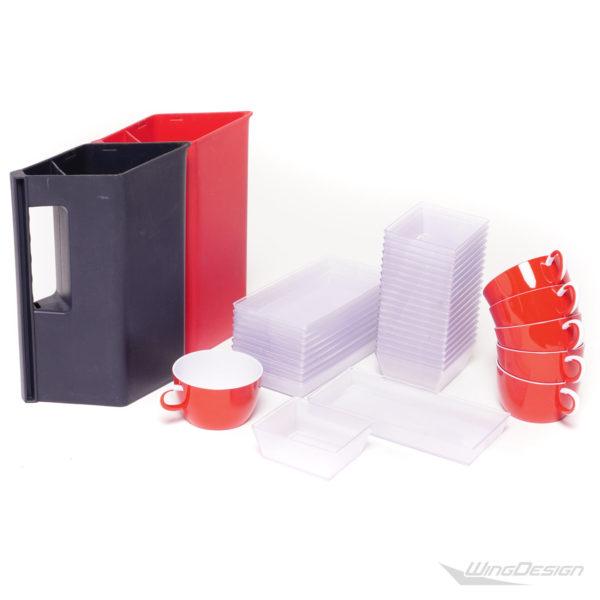 airerblin kunststoff tasse Set mit Kanne und Schalen
