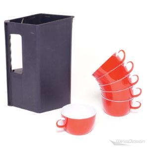 airerblin kunststoff tasse Set mit Kanne blau