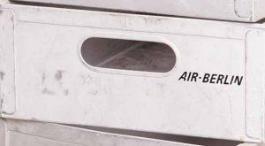 airberlin Flugzeugtrolley Aluminium Einschub gebraucht Logo begedruckt