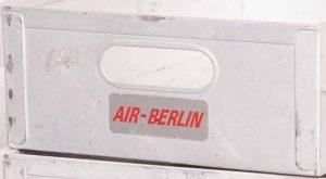 airberlin Flugzeugtrolley Aluminium Einschub gebraucht Logo beklebt