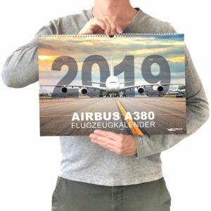 Größenvergleich Flugzeugkalender 2019