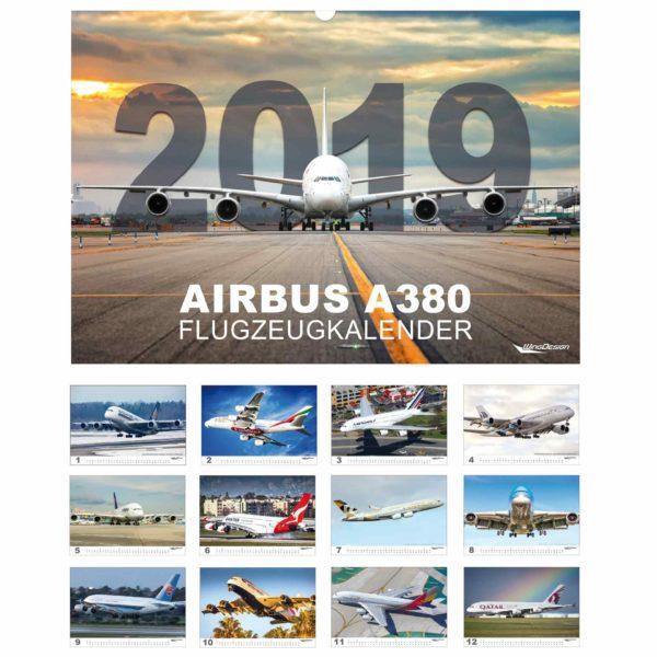 Airbus Flugzeugkalender 2019 Cover und Motive