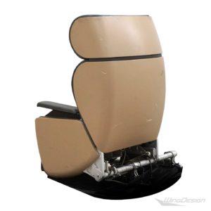 Flugzeugsitz Einzelsitz aus der swiss first class Rueckseite