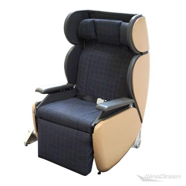 Flugzeugsitz Einzelsitz aus der swiss first classfront