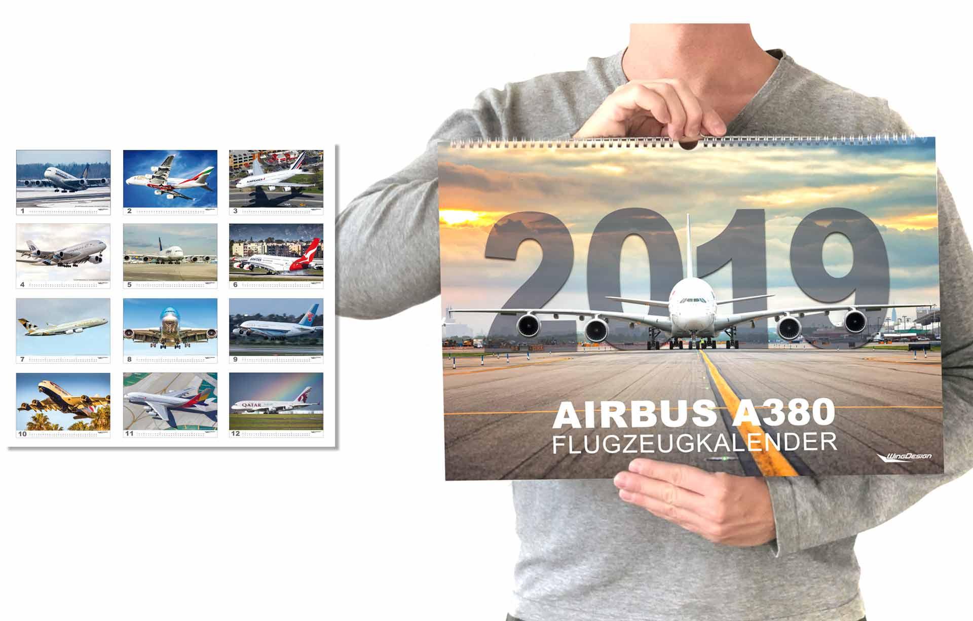 Airbus Flugzeugkalender 2019