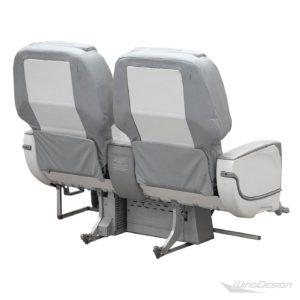 Flugzeugsitz Doppelbank-Business Class grau Niki Airbus A320 Rueckseite
