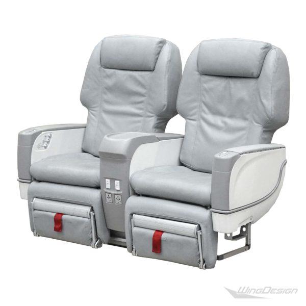 Flugzeugsitz Doppelbank-Business Class grau Niki Airbus A320