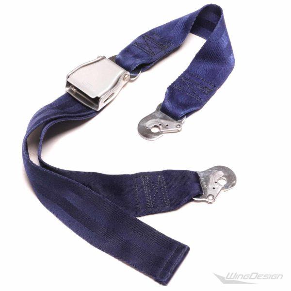 Original Flugzeuggurt Seatbelt Gürtel blau