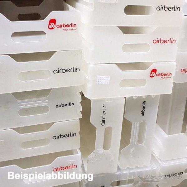 Defekte Kunststoffeinschübe von airberlin