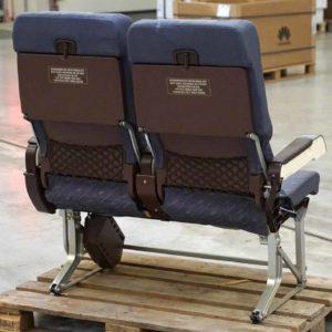 Flugzeugsitz Doppelbank von 1994 Rückseite