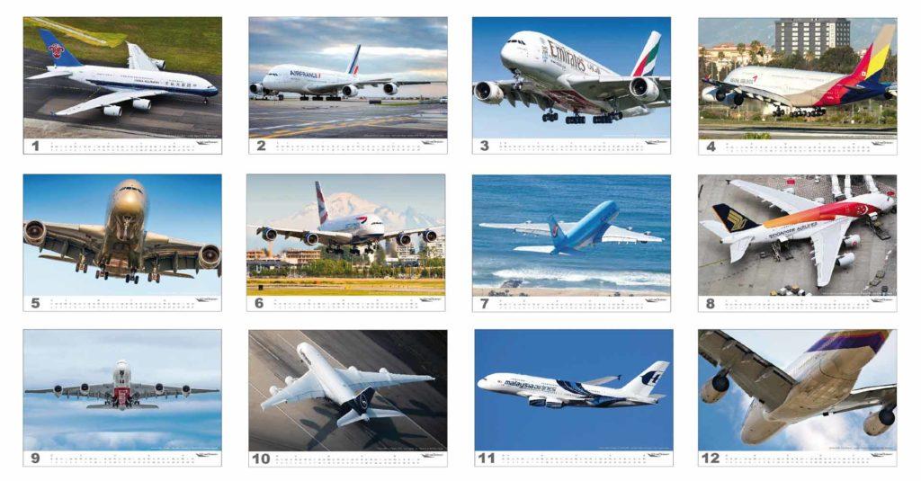 wingdesign AIRBUS A380 Flugzeugkalender 2020 Motive