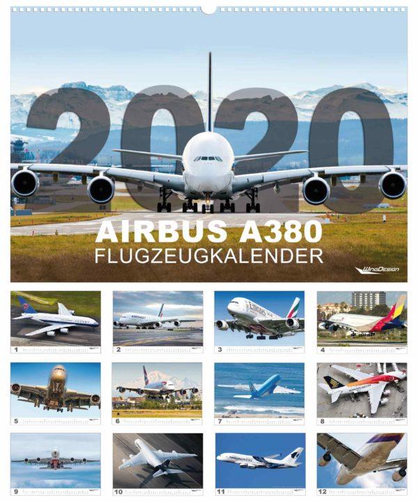Airbus A380 Flugzeugkalender 2020