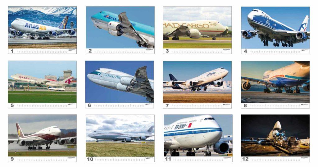 wingdesign Boeing 747 Flugzeugkalender 2020 Motive