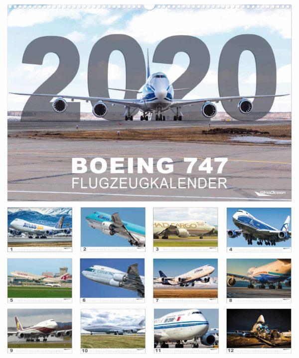 Boeing 747 Flugzeugkalender 2020