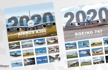 AIRBUS A380 und Boeing 747 Flugzeugkalender 2020