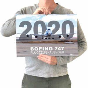 Boeing 747 Flugzeugkalender 2020 Größenvergleich