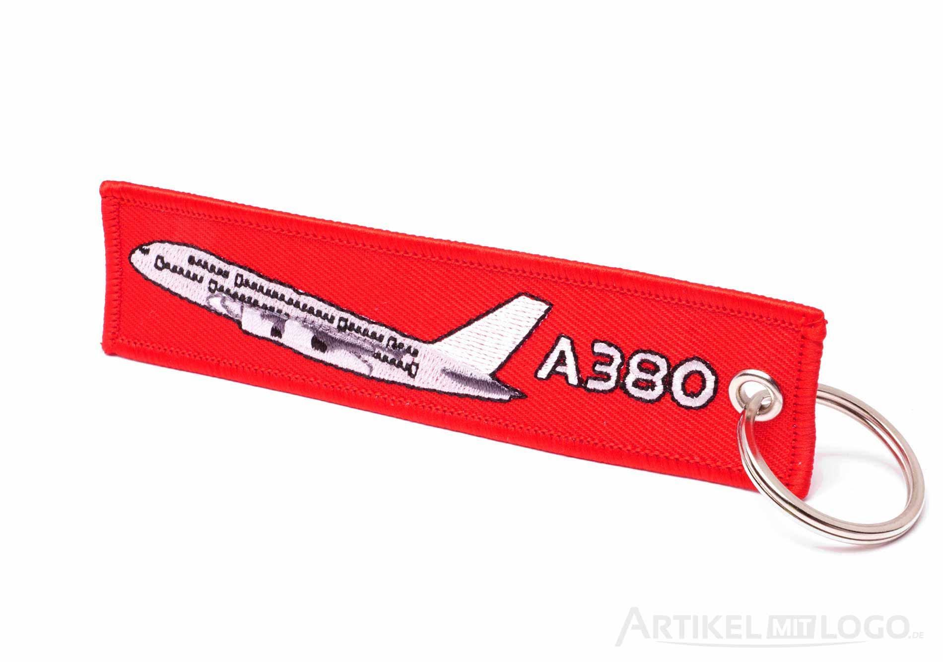 Airbus A380 Remove Before Flight Schluesselanhaenger rot weiss