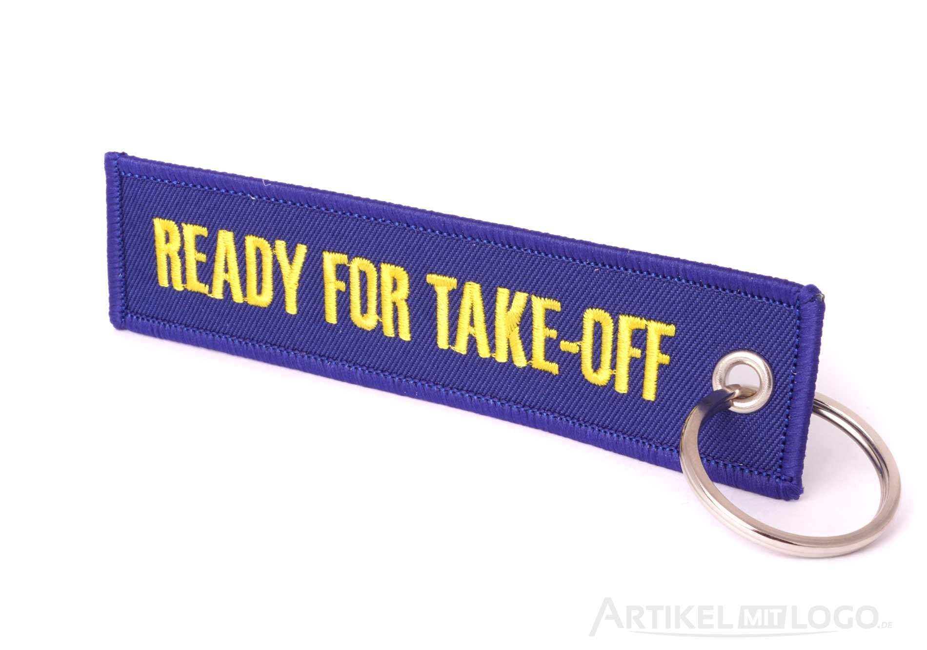 Ready For Take Off Schlüsselanhänger blau