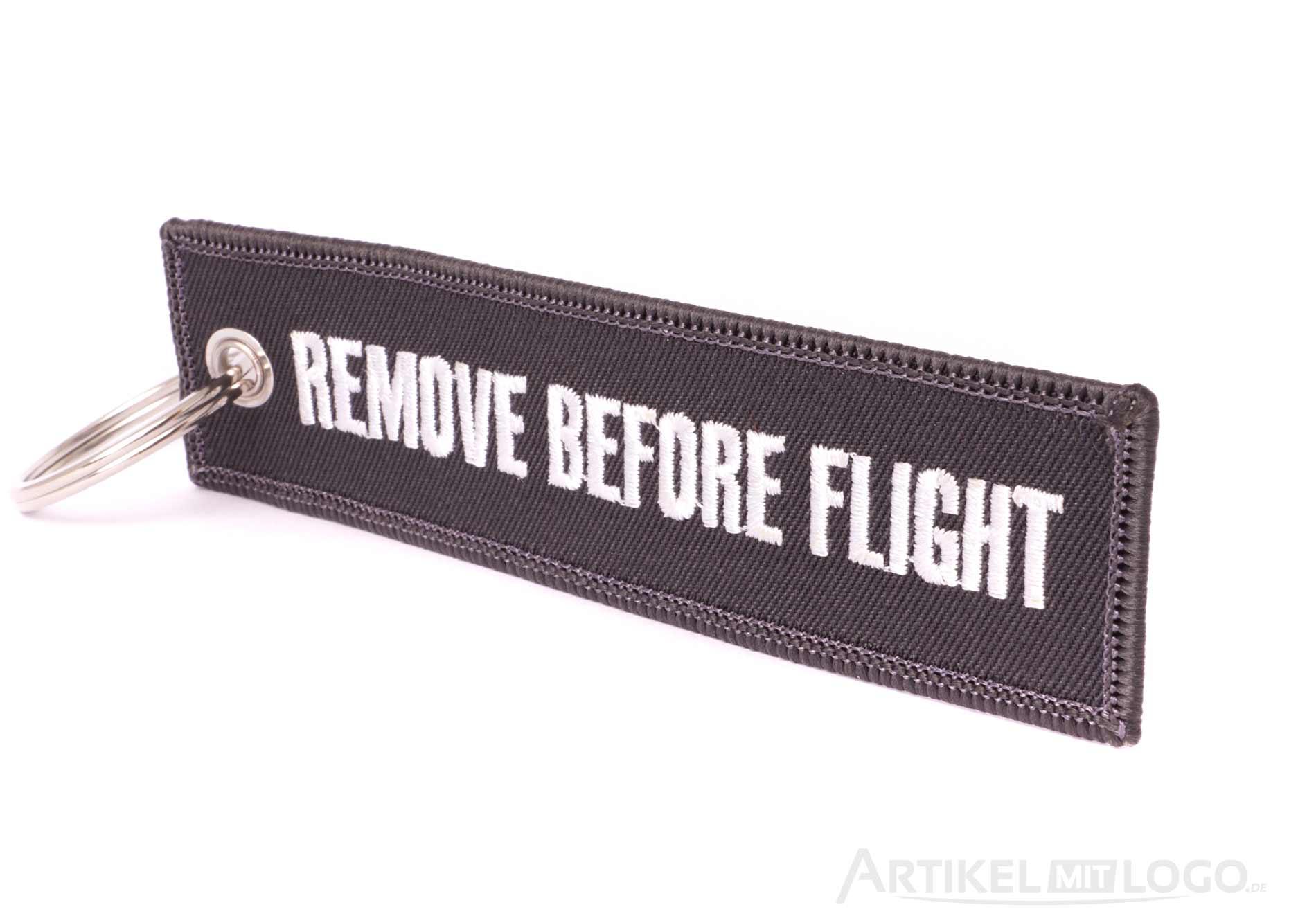 Remove Before Flight Schluesselanhaenger anthrazit