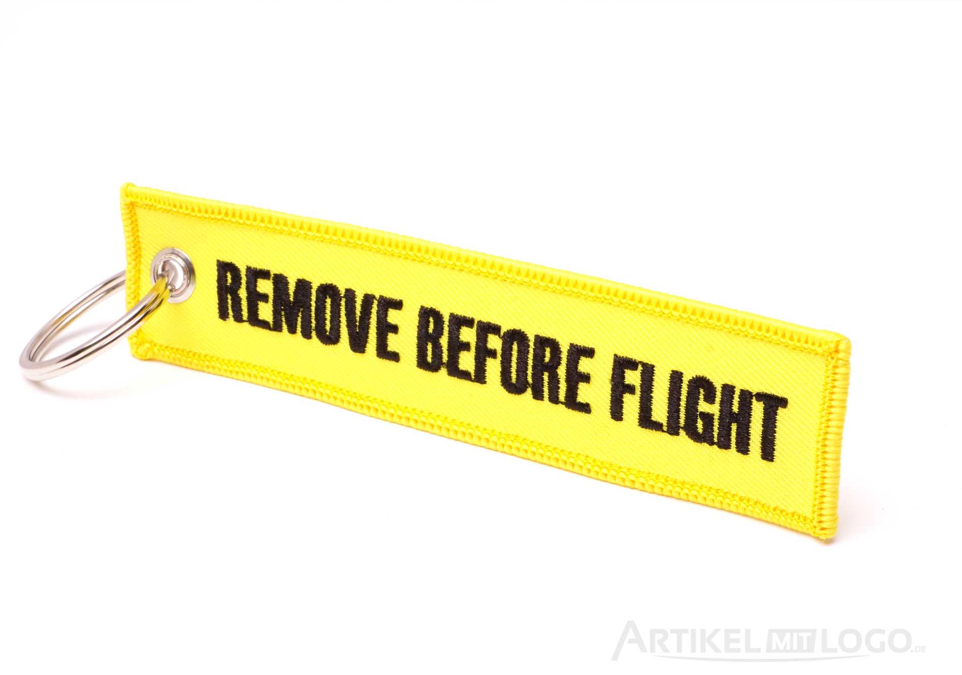 Remove Before Flight Schlüsselanhänger gelb