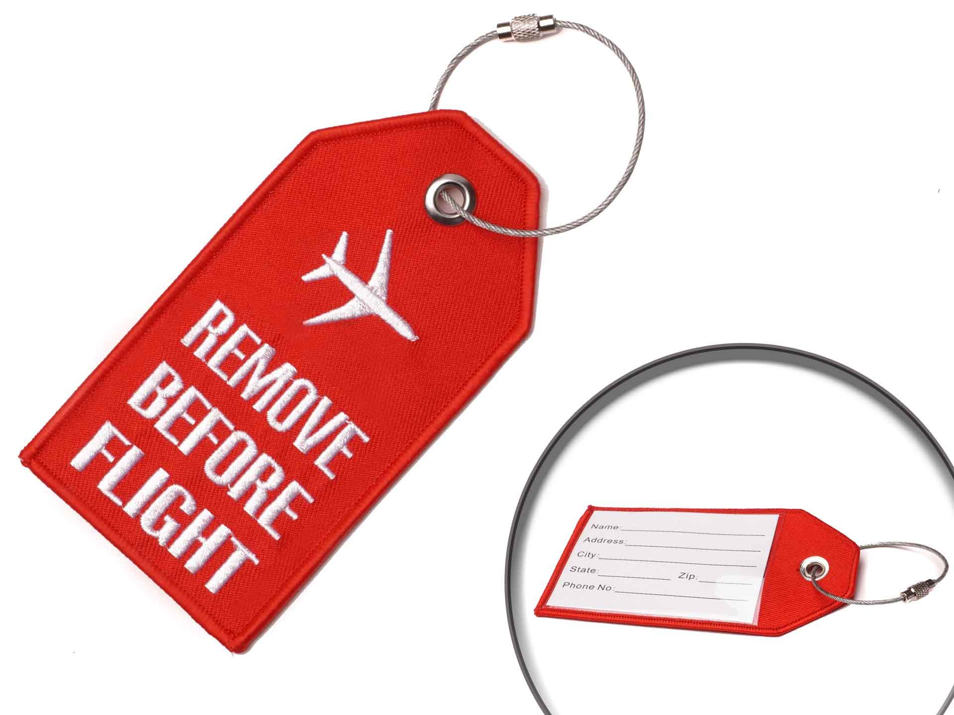 Remove Before Flight Kofferanhänger Rot