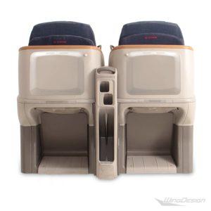 Flugzeug-Doppelsiitzbank Rückseite ohne Monitore