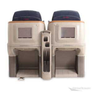 Business Class 'flugzeugsitz Doppelsitzbank Rückseite