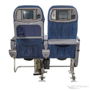 Flugzeugsitz Doppelsitzbank ARS-642 blau Economy Class Rückansicht