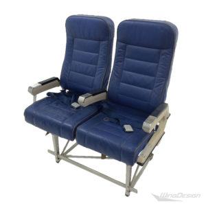 Flugzeugsitz Doppelsitzbank Sicma Leder blau