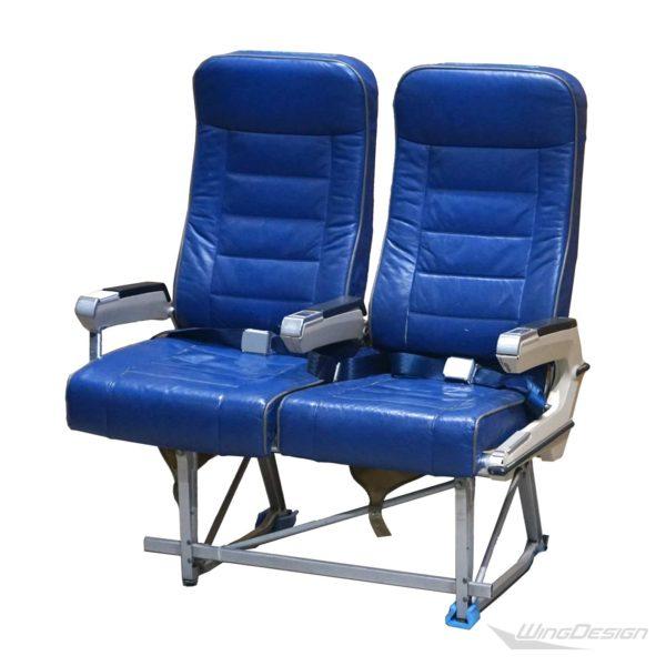 Flugzeugsitz Doppelsitzbank Leder blau SICMA