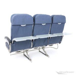 Flugzeugsitz Dreierbank blau Economy Class - Stoffbezüge Rückseite