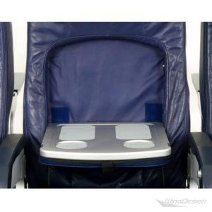 Flugzeugsitz Dreierbank SP-011192 Economy Class- dunkelblau ausklappbarer Tisch